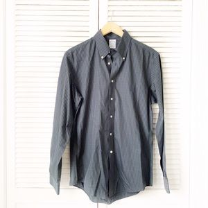 Brooks Brothers Plaid Button Down Green Purple